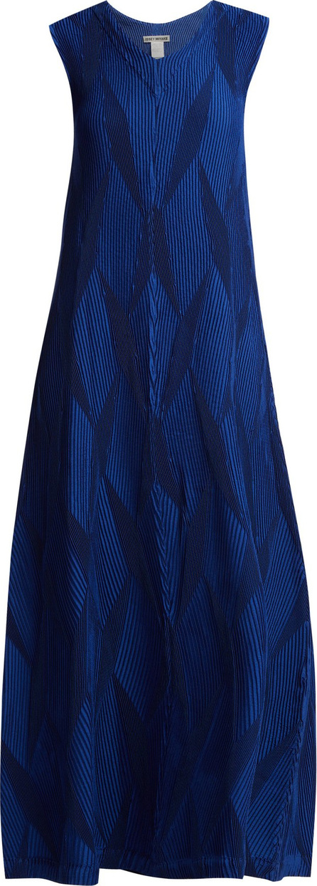 Issey Miyake Diamond pleated flared dress