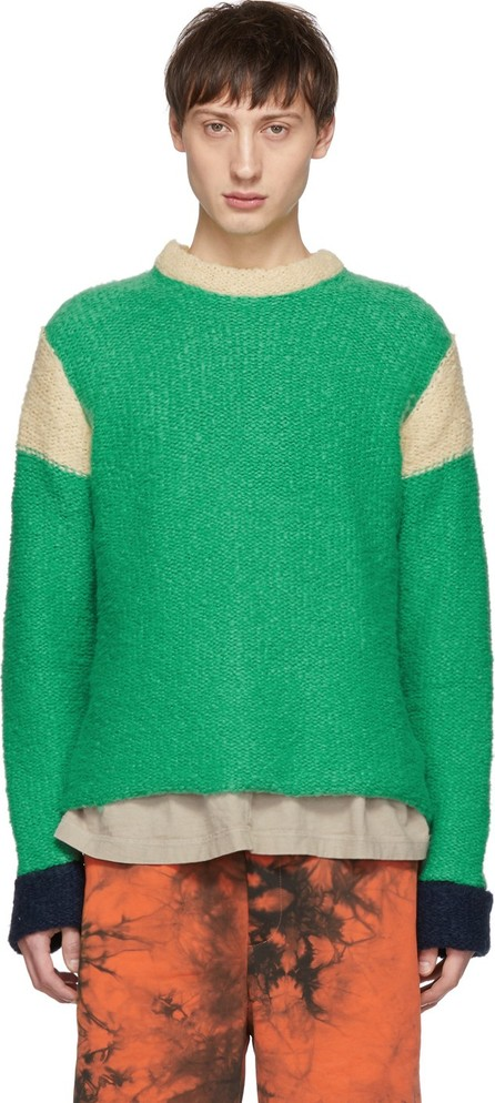 Eckhaus Latta Green & Yellow Kermit Sweater