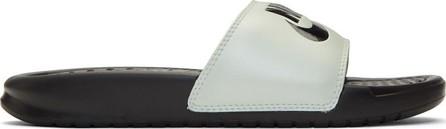 Nike White & Black Benassi JDI Slides