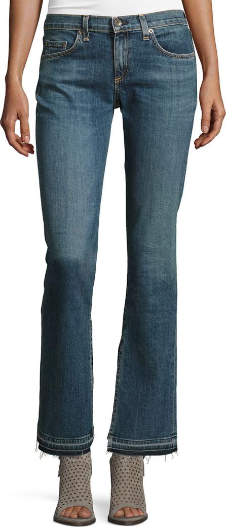Rag & Bone Lottie Side-Slit Boot-Cut Jeans, Paz