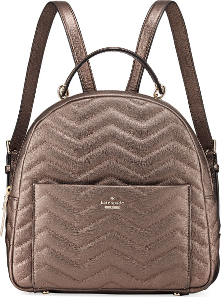 Kate Spade New York reese park ethel metallic leather backpack