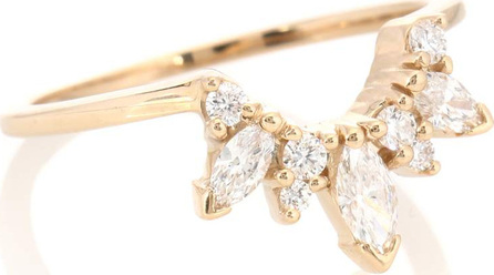 Anna Sheffield Marquise Butterfly Tiara 14kt gold ring with diamonds