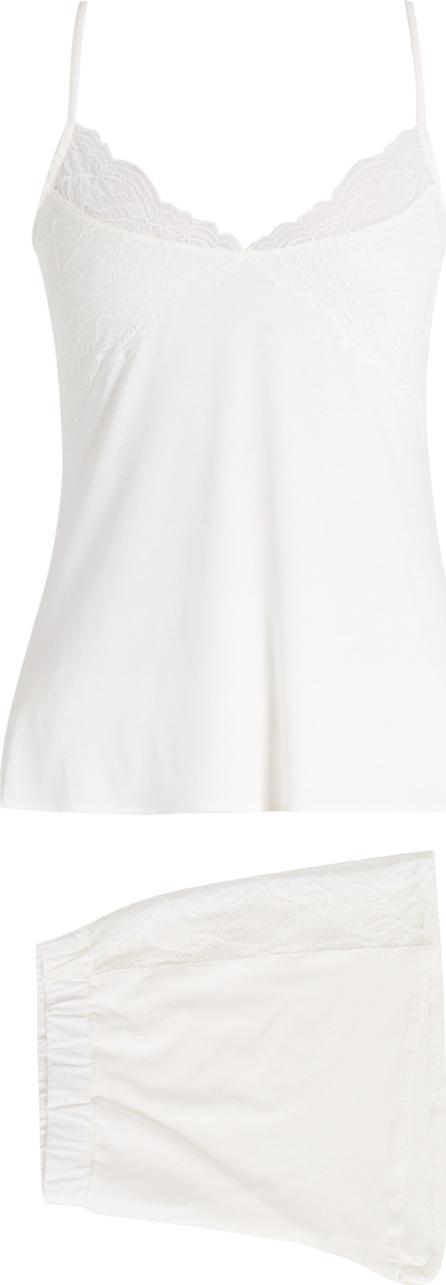 Hanro Greta lace-trimmed pyjama set