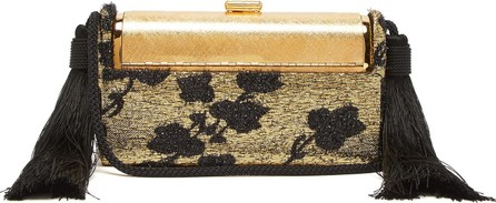 Bienen-Davis Régine lamé and gold-plated minaudière clutch