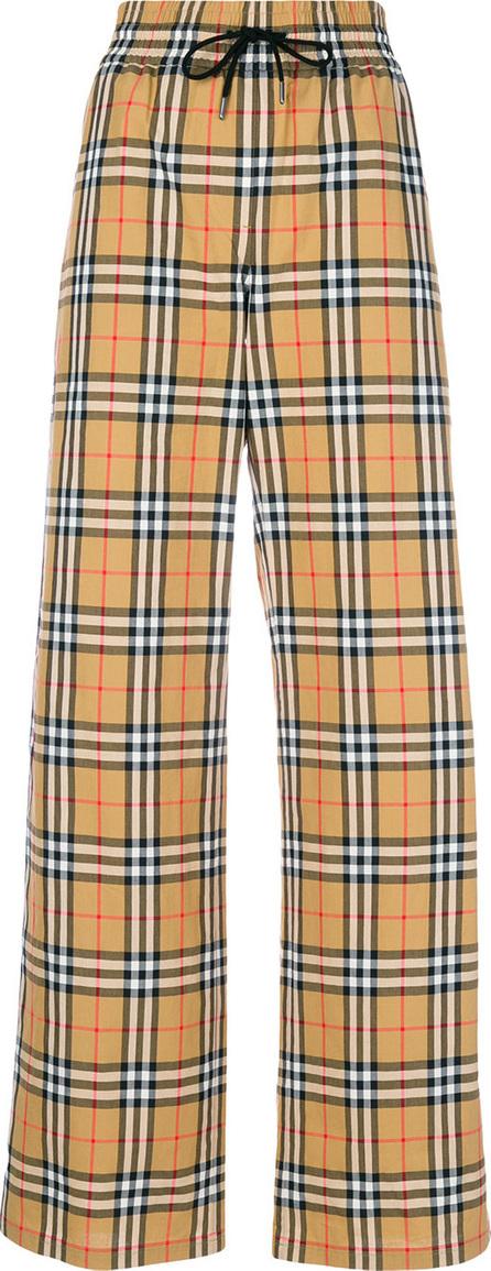 Burberry London England Stripe detail check trousers