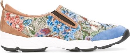 Ermanno Scervino jacquard slip-on sneakers