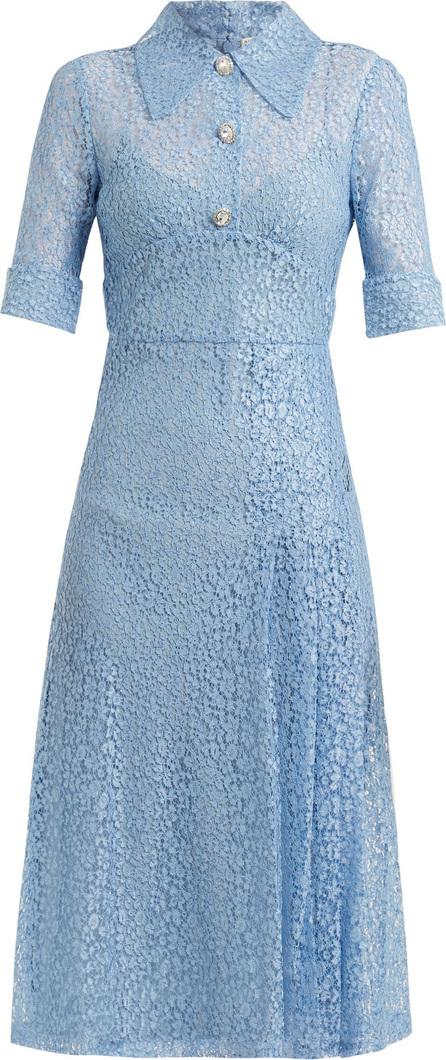 Alessandra Rich Infermiera floral-lace dress