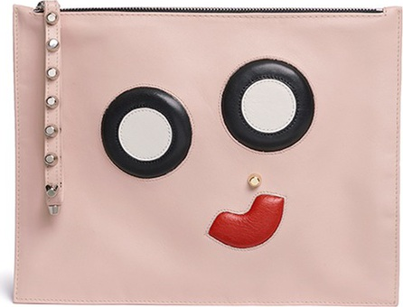 A-Esque 'Face-Up' midi leather pouch