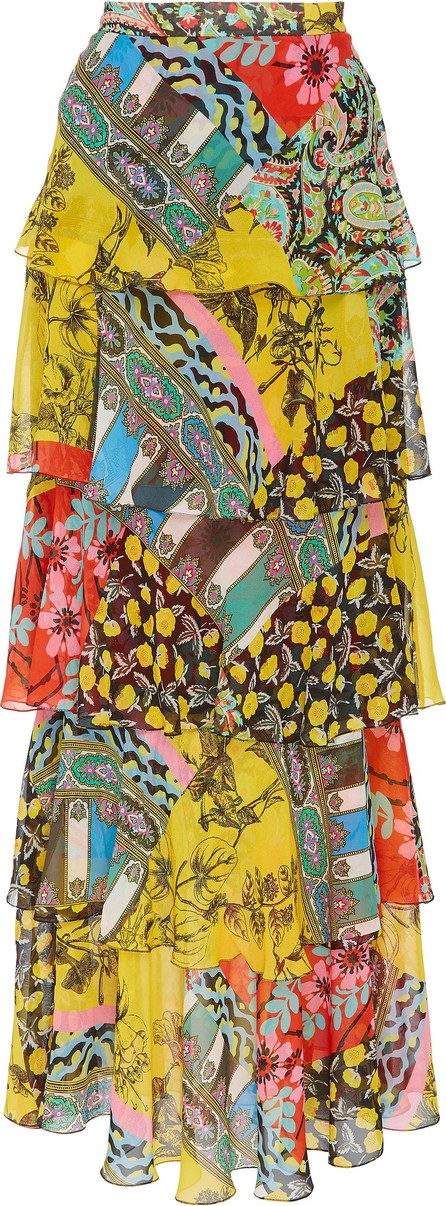 Etro Norfolk Tiered Silk Maxi Skirt