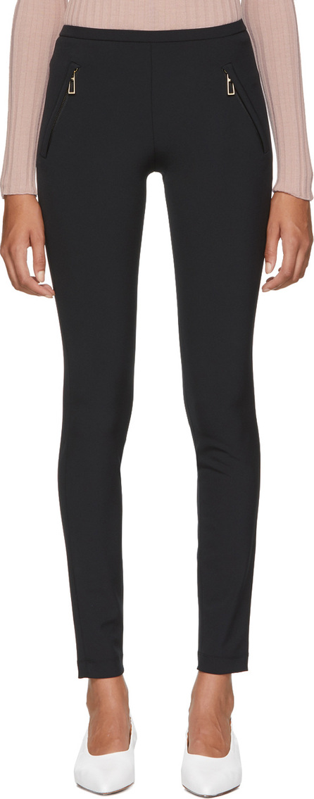 Emilio Pucci Black Laser Cut High-Waisted Leggings