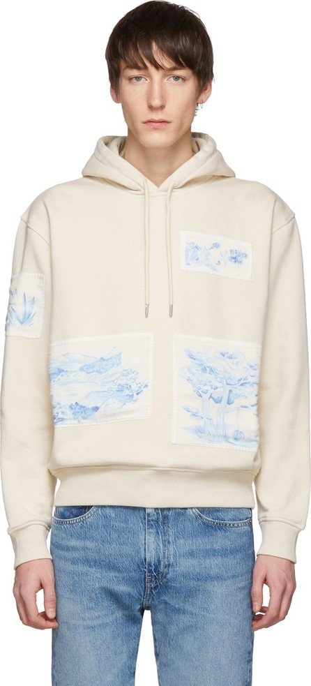 AMI Off-White Patch Hoodie