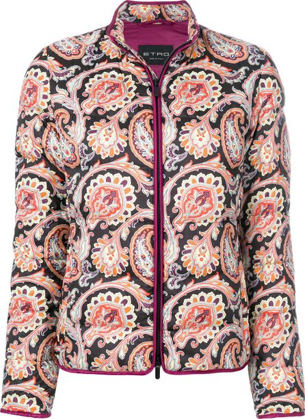 Etro mixed print padded jacket