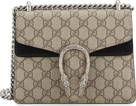 Gucci Dionysus GG Supreme Mini Shoulder Bag, Beige/Black