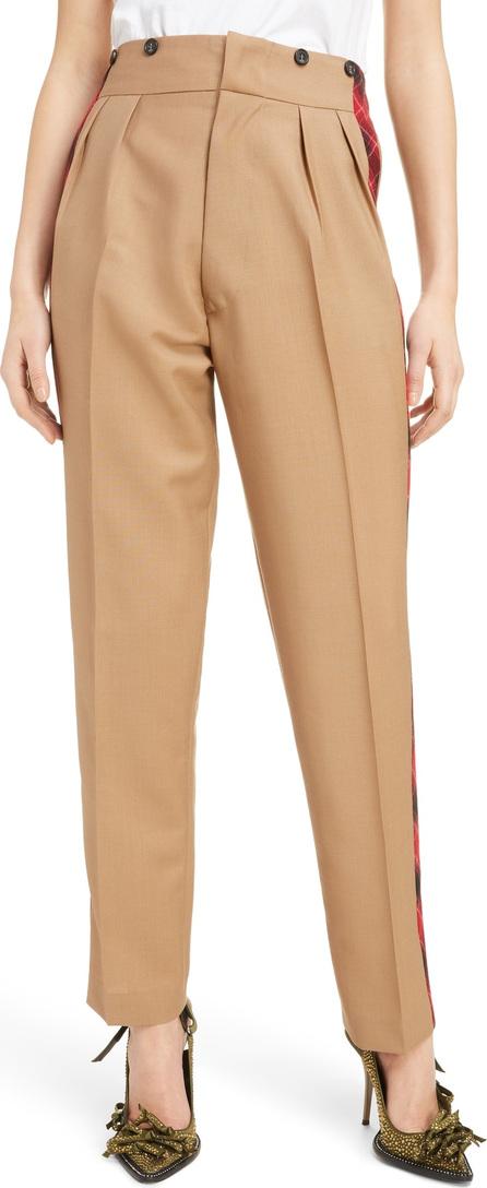 N°21 Nº21 Check Side Stripe Mohair & Wool Blend Trousers