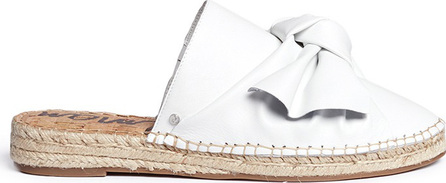 Sam Edelman 'Lynda' knotted bow leather espadrille slides