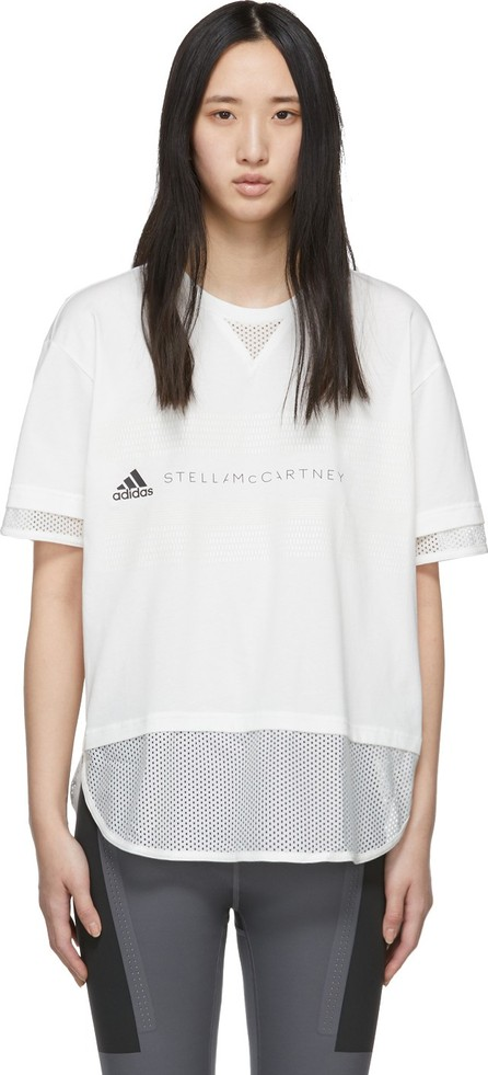 Adidas By Stella McCartney White Logo T-Shirt