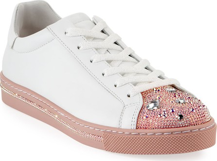 Rene Caovilla Crystal Heart Embellished Low-Top Sneakers