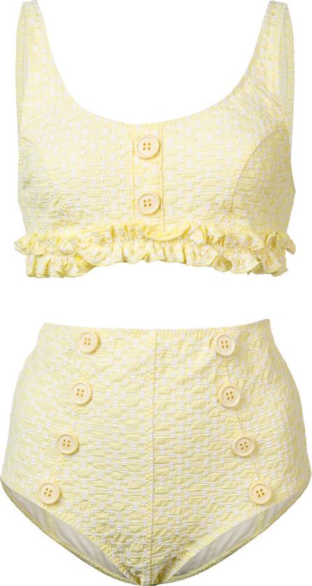 Lisa Marie Fernandez Button-embellished bikini set