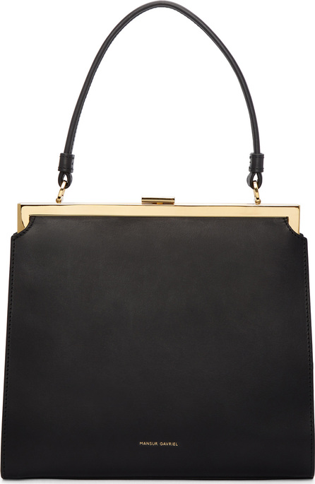 Mansur Gavriel Black Leather Elegant Bag
