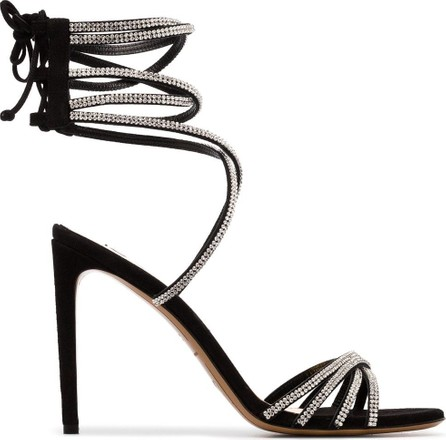 Alexandre Vauthier Josephine 100 strappy crystal suede sandals