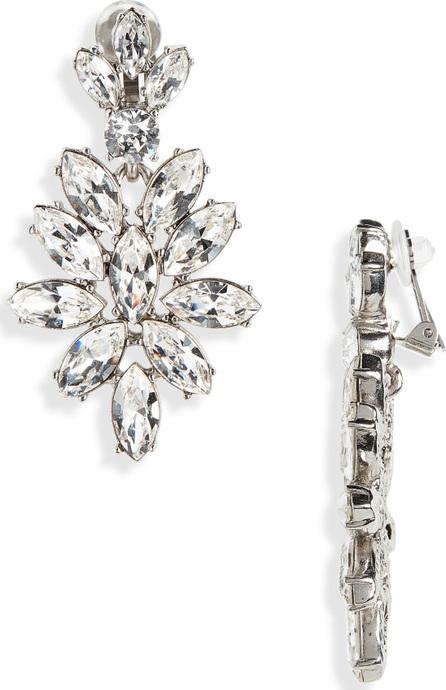 Oscar De La Renta Navette Crystal Earrings
