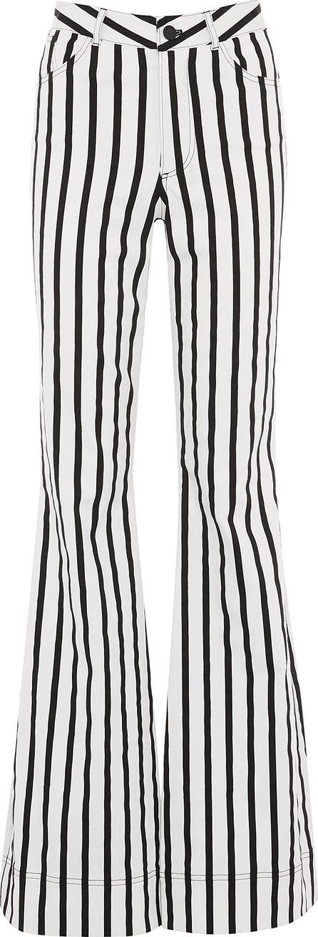 Alice + Olivia 'Beta' stripe flared leg jeans