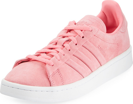Adidas Campus Stitch & Turn Suede Lace-Up Sneakers, Chalk Pink