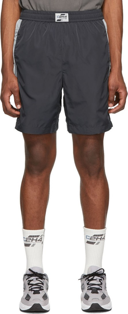C2H4 Grey 3M Panelled Shorts