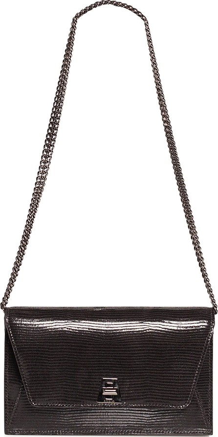 Akris Anouk Lizard Embossed Wallet on a Chain