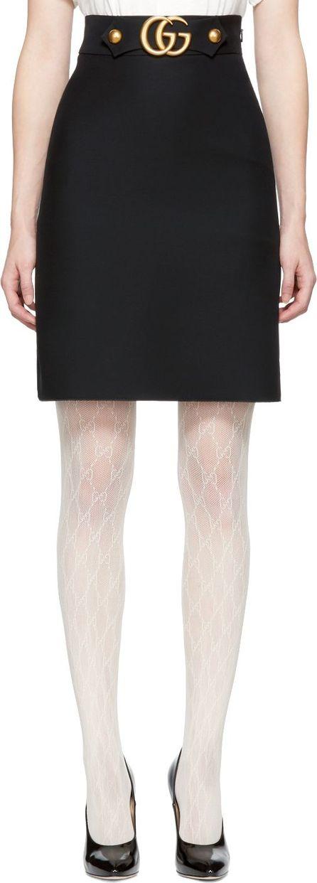 Gucci Black GG Belt Miniskirt