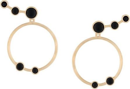 Eshvi cabochon hoop earrings