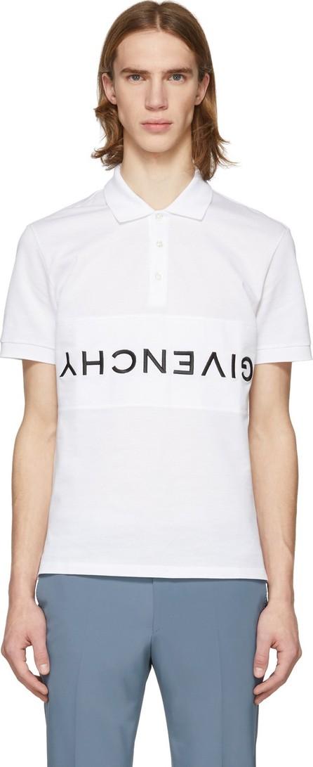 Givenchy White Reverse Logo Polo