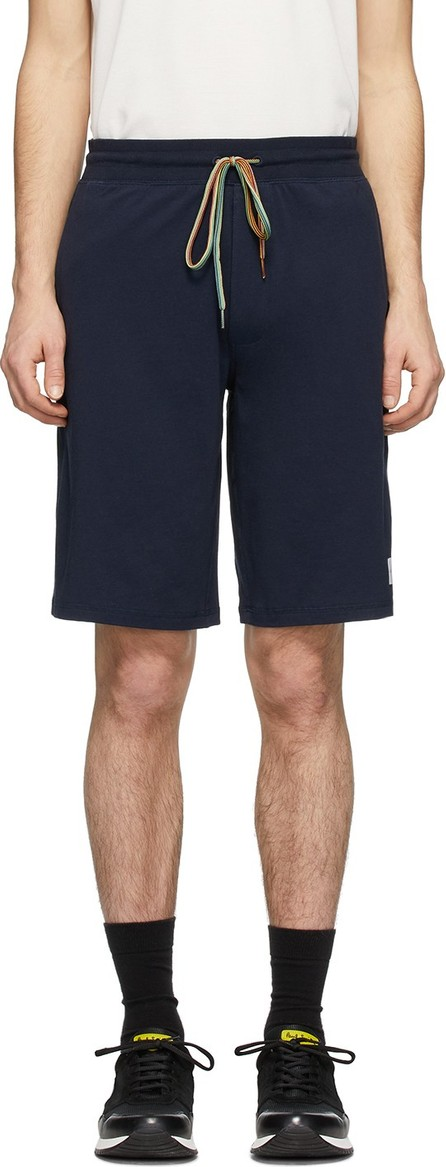 Paul Smith Navy Cotton Jersey Shorts