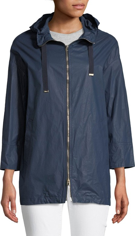 Herno Waxed Cotton A-Line Rain Coat w/ Hood