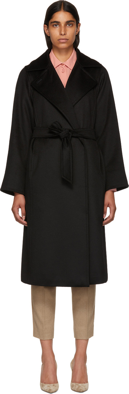 Max Mara Black Manuel Coat