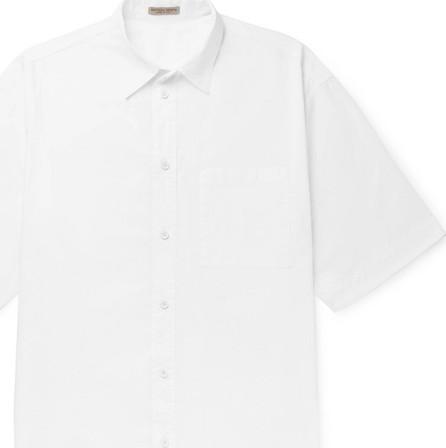 Bottega Veneta Crinkled Cotton-Poplin Shirt