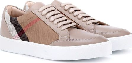 Burberry London England Salmond leather and fabric sneakers