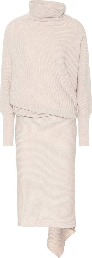 Agnona Ribbed cashmere dress