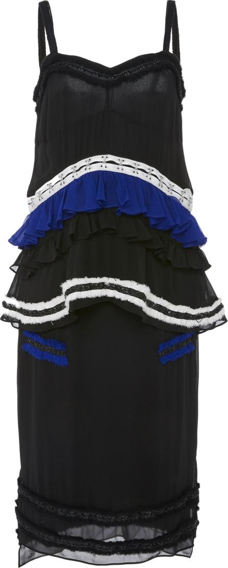 Proenza Schouler Ruffled Silk-Chiffon Dress