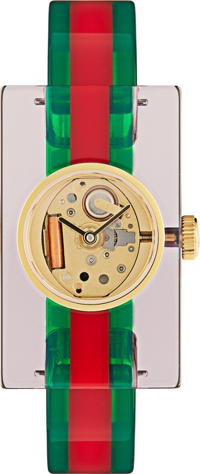 Gucci Web Plexiglas watch