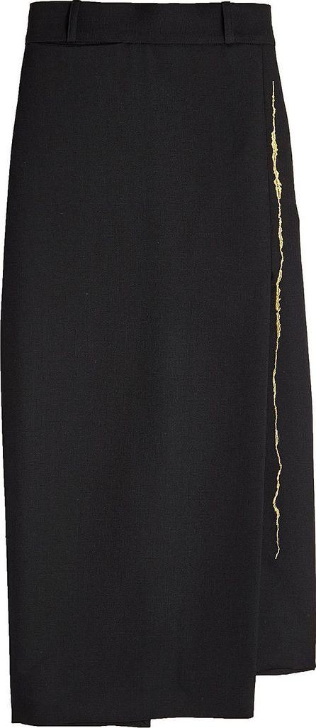 Haider Ackermann Asymmetric Fleecewool Skirt