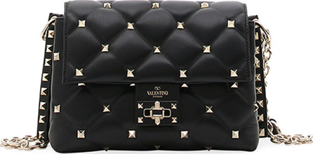 Valentino Candystud Medium Leather Shoulder Bag