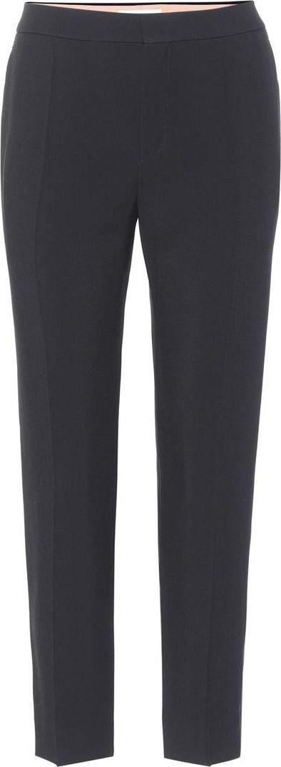 Chloe Cropped crêpe trousers