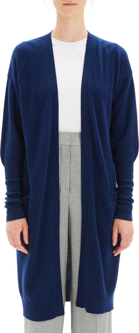 Theory Lightweight Open-Front Long Cashmere Cardigan
