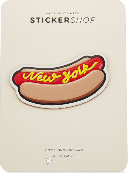 Anya Hindmarch New York Hot Dog Sticker for Handbag, Red