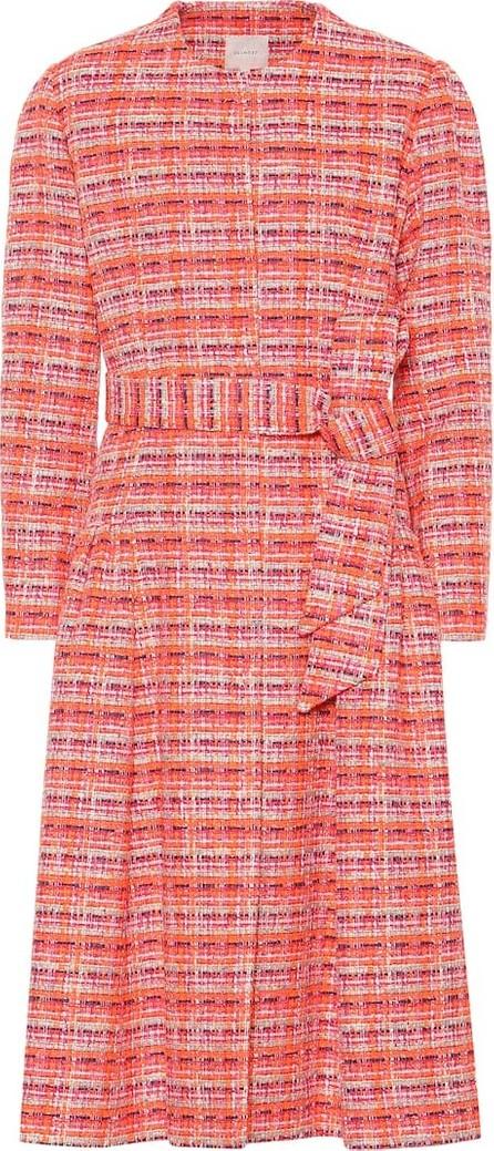 DELPOZO Belted cotton-blend bouclé coat