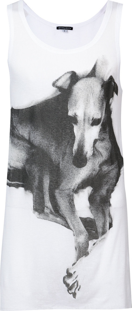 Ann Demeulemeester Greyhound print vest top