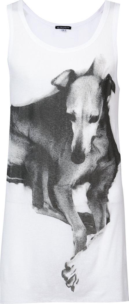 Ann Demeulemeester Greyhound print vest top
