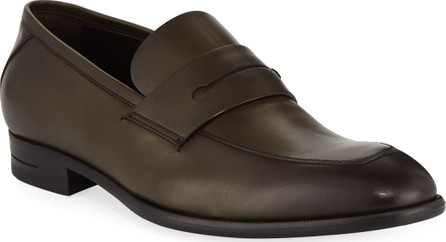 Ermenegildo Zegna Men's New Flex Penny Calf Military Shoes