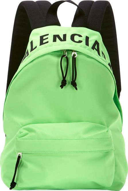 Balenciaga Wheel Logo-Print Nylon Backpack